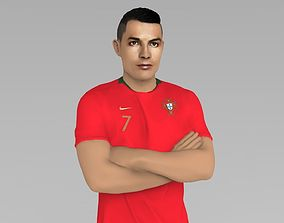 Cristiano Ronaldo Portugal ready for full color 3D