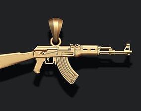 AK 74 gun pendant 3d