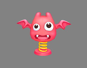 Cartoon spring monster - Scary toy - Scared gift 3D asset