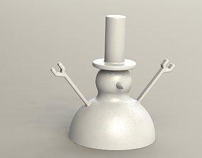 3D print model Snowman Keyholder