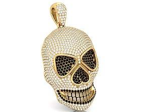 Skull Bling Pendant 3D printable model