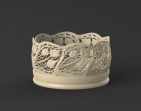 3D printable model floral box
