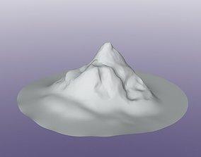 3D Stylized Mountain Peak