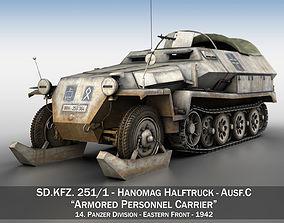 3D model SD KFZ 251 1 - Ausf C - Half-track - Winterkit