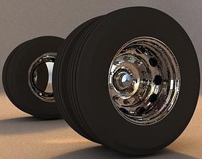 3D Wheels Chasis Bus or Coach Mercedez Benz