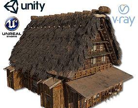 Shirakawago Village Set House 4 3D asset