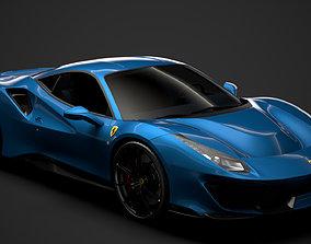 Ferrari GTB 488 Pista 2020 3D model