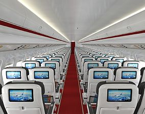 3D model Airplane cabin 109 Seats