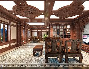 3D Classic House Interior 01