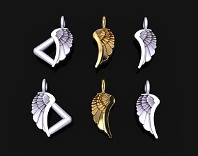 3D printable model ANGEL WING DOUBLE SIDES PENDANT SMALL 1
