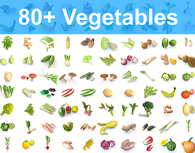 80 Plus Mega Vegetable Collection 3D