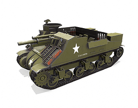 M7 Priest Howitzer Motor Carriage 3D asset
