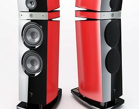 3D Red stereo speakers 23 AM77