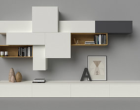 3D Slim 88 TV media unit composition by Dall Agnese