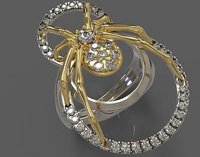 3D print model spider ring 3d