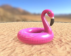 3D model Inflatable Pink Flamingo Toy