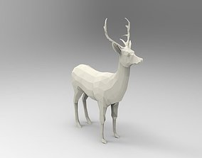 Deer 3D Printable low-poly