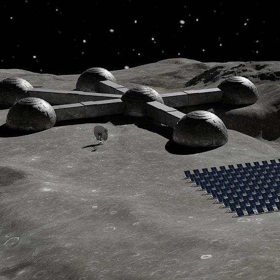 Base Moon 3D model