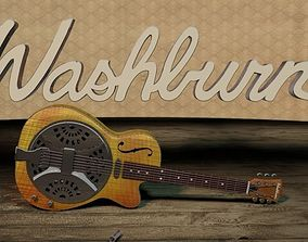 3D model Washburn R45RCE Resonator Guitar