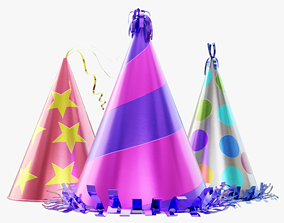 3D Party Hats Collection