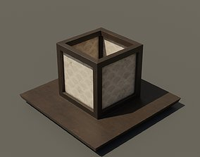 Japanese Wood Lamp 2 3D asset