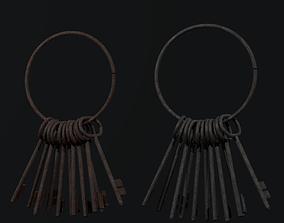 3D model Old Keys set