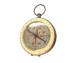 antique Compass 3D model VR / AR ready
