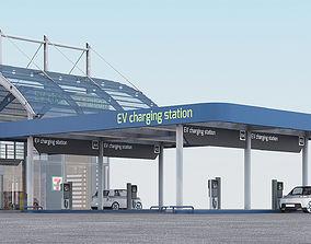 EV charging station model unit 3D