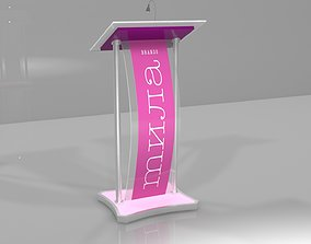 mila rostrum - podium - stage - 3D model
