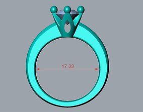 ENGAGEMENT RING STL AND 3DM FILE FOR DOWNLOAD AND PRINT 1
