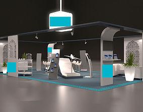 3D model trade fair event stand