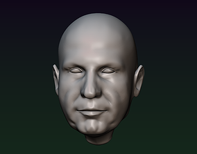 Man head 15 Male head 3D print model