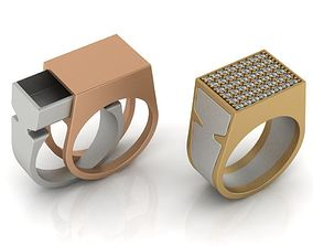 Secret Compartment Ring 2 in 1 3D print model