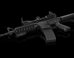 AR M4 Barrel WaltherZF 3-9 3D model