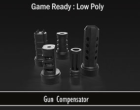 Compensator 5 In 1 Combo 3D model VR / AR ready