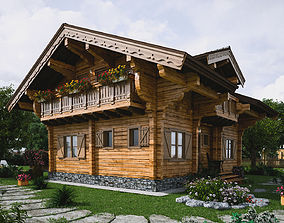 3D model Chalet terrace
