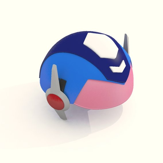 Cartoon Robot Helmet Model CRH8