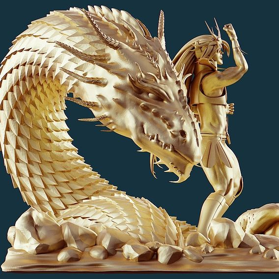 Saint Seiya Dragon dragon shiryu 3d model print