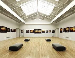 3D model Gallery Exposition Interior