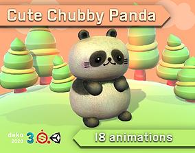 3D asset Cute Chubby Panda