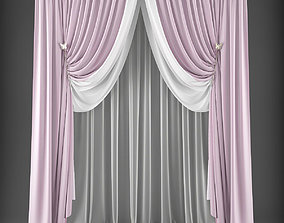 hq 3D model low-poly Curtain
