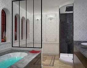 shower 3D model bathroom