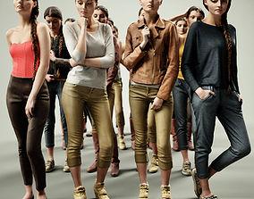 3D model 16 Fashion Girls Scan Vol 1
