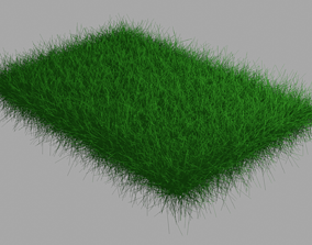 natural blender 3d model green grass