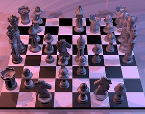 Chess 3D model low-poly