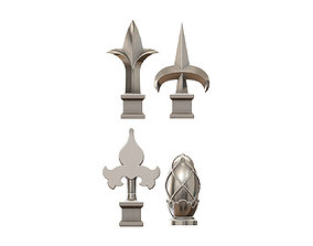 Cast iron spears designs 3D print model