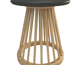 3D Fan wooden stool