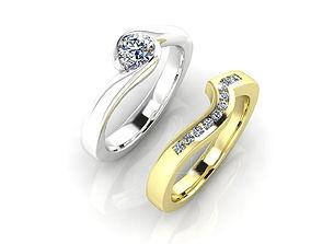 Diamond Double Ring 3D printable model