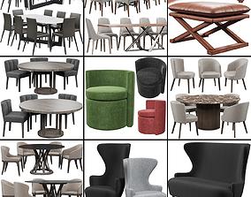 Chairs set 2 3D model