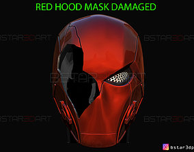 3D print model Red Hood Mask Damaged - TITANS season 3 - 2